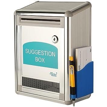 My Caridad Cajas ~ aluminio Sugerencia - Caja Donación de la ~ ~ buzón ~ Observaciones Caja: Amazon.es: Oficina y papelería
