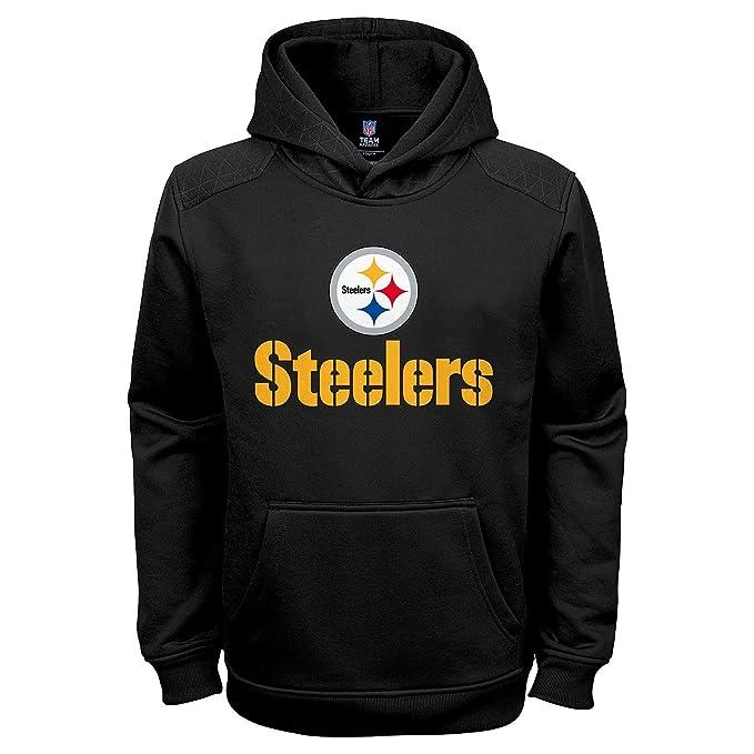 super popular 71d8b f42e9 Amazon.com : Outerstuff Pittsburgh Steelers Black NFL Kids ...