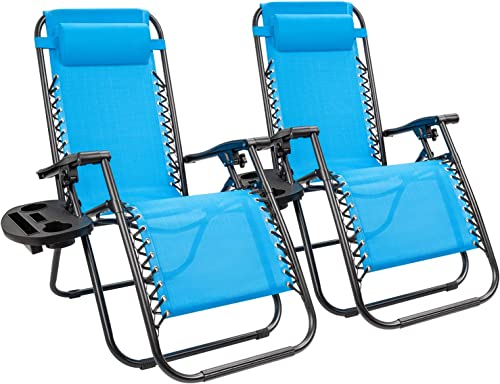 KaiMeng Zero Gravity Folding Lounge Chairs Outdoor Patio Adjustable Reclining Chair