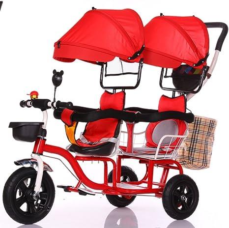 TUJHGF Sillita De Paseo Carro De Bicicleta De Triciclo Infantil ...