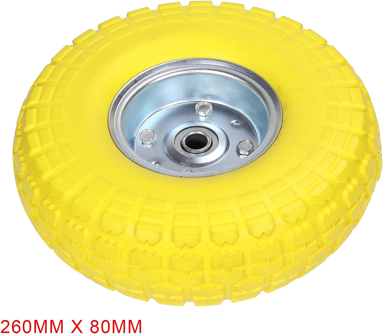 """BN 2 X Remplacement Sack Truck Roue Roues Solide Non crevaison 10/"""" Chariot Camion"""
