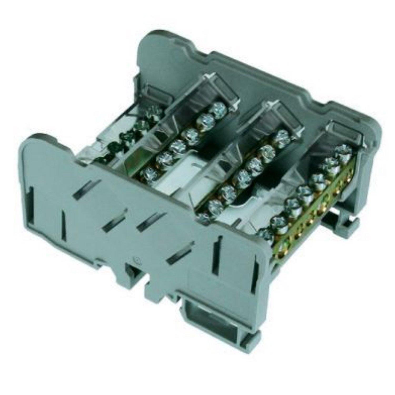 ASI QBLOK4126 Power Distribution Module, 4 Busbars, 125 Amp, 500V, 15 Connections