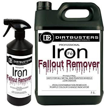 Dirtbusters Iron fallout quitamanchas de bajo olor, limpiador de llantas de aleación,