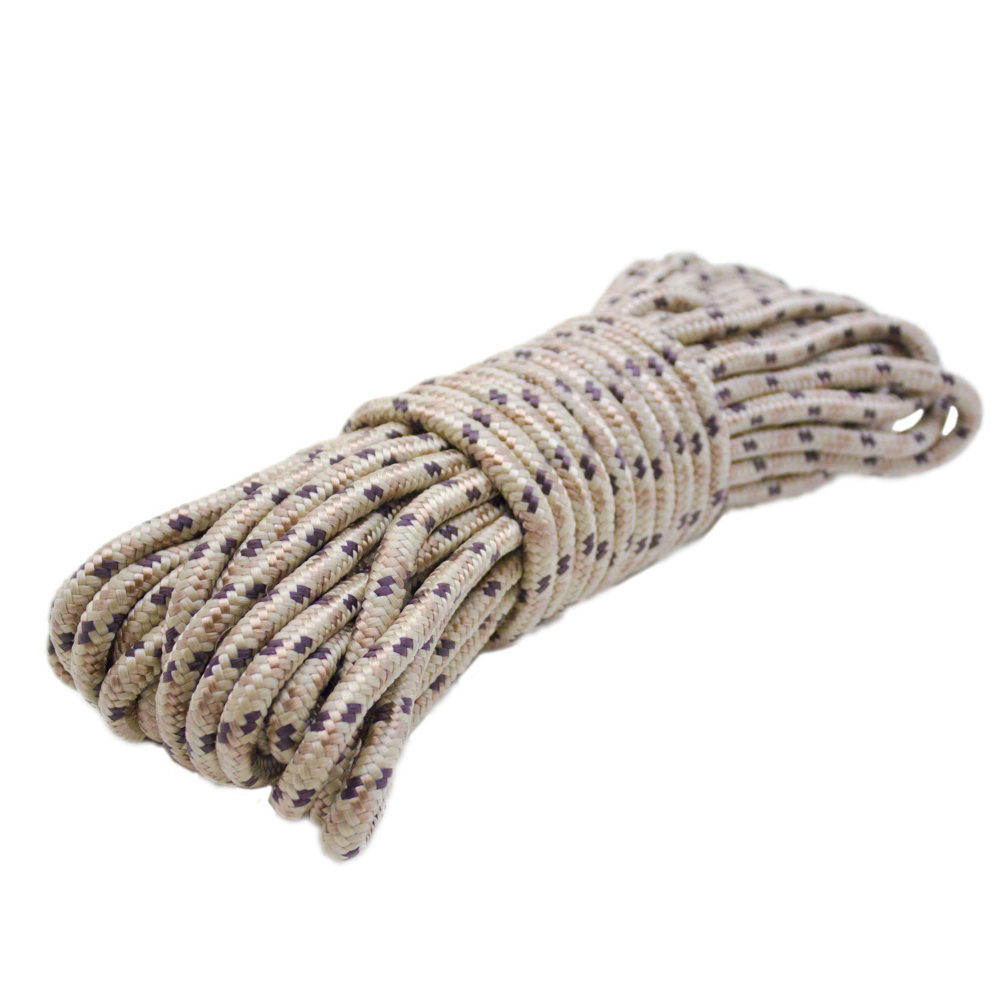 Emergency Zone 9mm (3/8 inch) Nylon Braided, 50 Foot, Multi-Purpose Rope. Camouflage 1 Pack