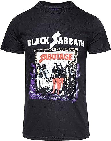 Funny T-shirt Camiseta Graciosa de los Hombres Sabat del Sabotaje Negro Vintage Camiseta gráfica Divertida: Amazon.es: Ropa y accesorios