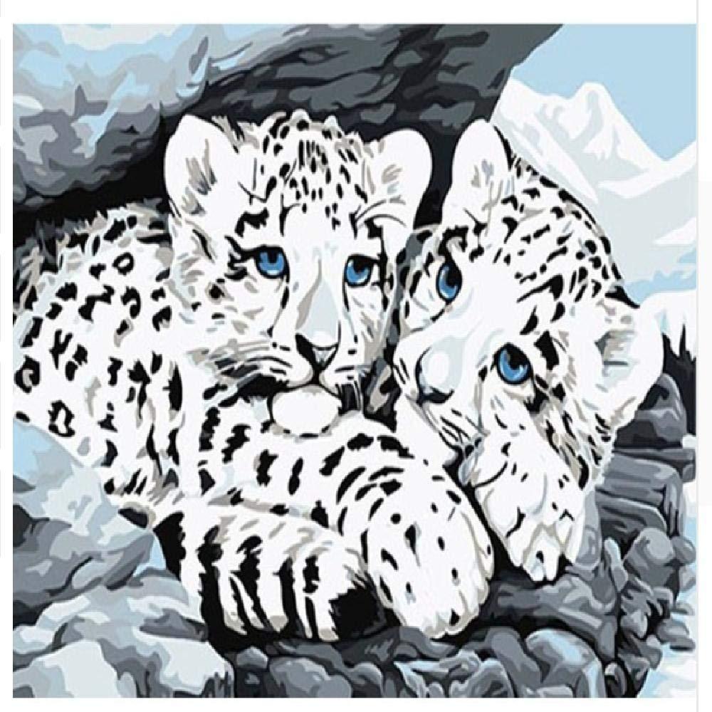 40x50cm  jjyyh Peintures par Numéros Tigre sans Cadre 100X180Cm Bricolage Peinture à l'huile Linen Toile pour Adultes Les Enfants Débutants des Gamins' Jouet Numéros Peinture par Décoration Murale