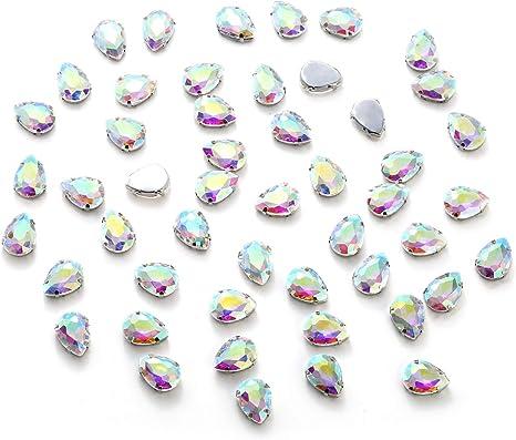 13*18 mm Sewing TEARDROP Flatback Rhinestones Sew On LIGHT PURPLE Crystal 25 PCS