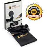 Best Lapel Microphone for iPhone, iPad, iPod Touch, Samsung Android and Windows Smartphones - PROFESSIONAL STUDIO QUALITY - 5 Foot Cable - Satisfaction Guaranteed