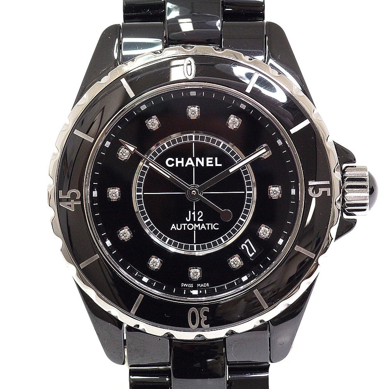 [シャネル] CHANEL メンズ腕時計 J12 H1626 ブラック(黒)文字盤 12Pダイヤ【中古】 B07F318KWM