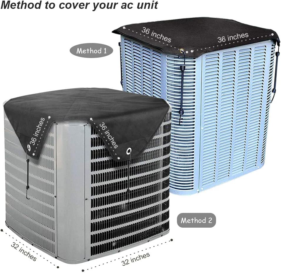 Bestalent Air Conditioner Cover for Winter Outside Units Ac Cover Waterproof 32 x 32 inches