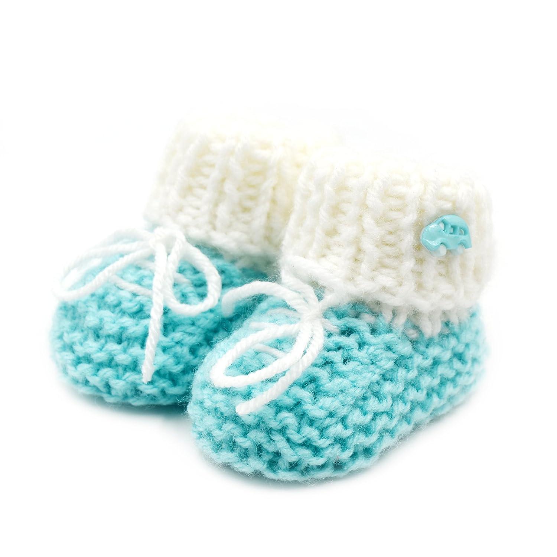 45492d580eaee Newborn Baby Booties-Handmade Crochet- Baby Booties Sneakers-Green ...