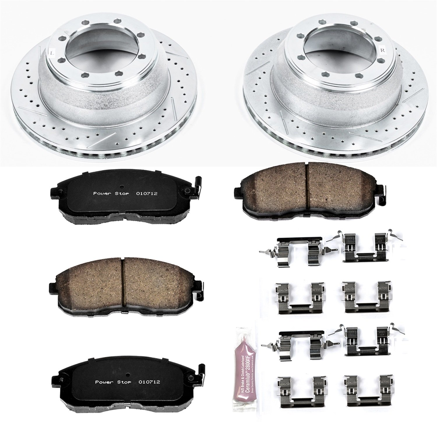 Power Stop K5216 Front Z23 Evolution Brake Kit with Drilled/Slotted Rotors and Ceramic Brake Pads