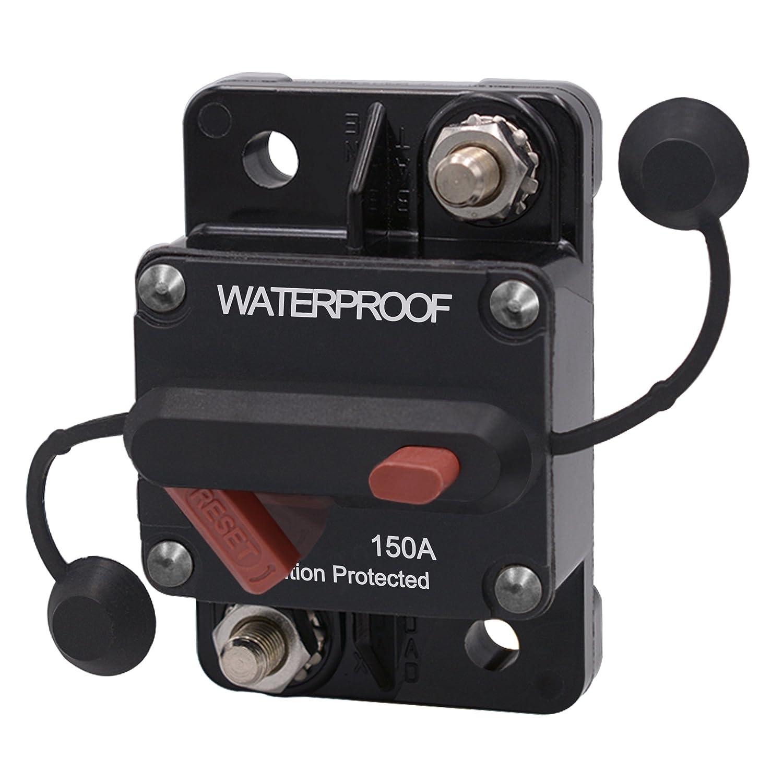 FishOaky 12V-24V DC Auto Auto Marine Boat Bike Stereo Audio Wasserdicht Leistungsschalter Reset Sicherung Stromkreisunterbrecher (20A)