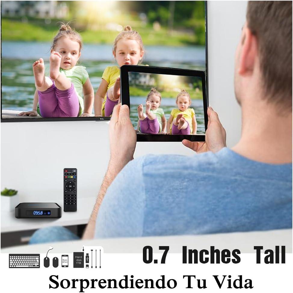 Globmall X1 Android 6.0 Smart TV Box Bluetooth 4.0 Amlogic Quad Core CPU LCD Pantalla con Teclado True 4K WiFi Smart TV: Amazon.es: Electrónica