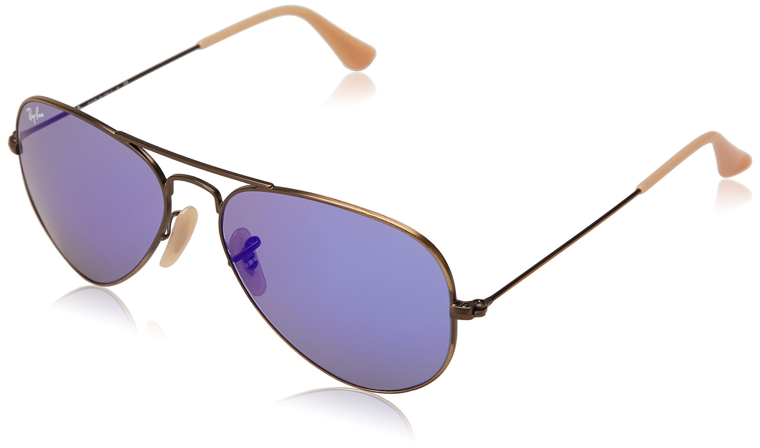 Ray-Ban Aviator Classic, Demiglos Brusched Bronze/ Blue Mirror, 58 mm