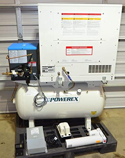 Amazon.com: labtechsales Powerex SES130862 Enclosed Scroll Compressor 3HP, 60 Gal Tank, Refrig Air Dryer: Electronics