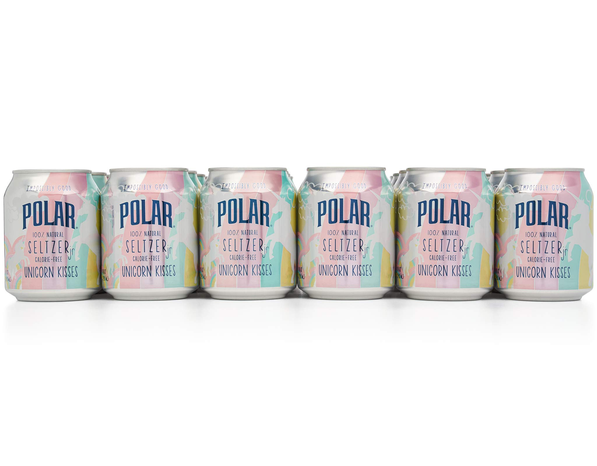 Polar 100% Natural Seltzer Jr Unicorn Kisses. 24 x 8 oz - Unleash your inner unicorn by POLAR