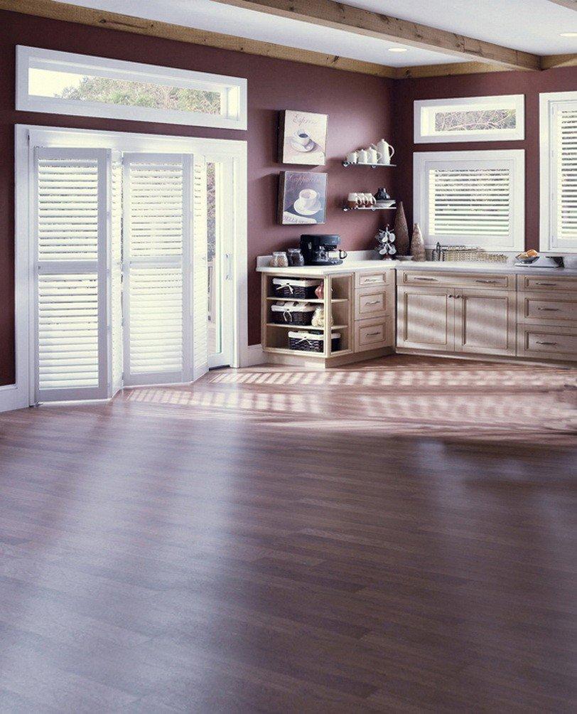 A Monamourダークコーヒートーンインドア部屋木製リビングルーム床壁装飾5 x 7ftスタジオ写真の背景幕   B01KTODSJ6