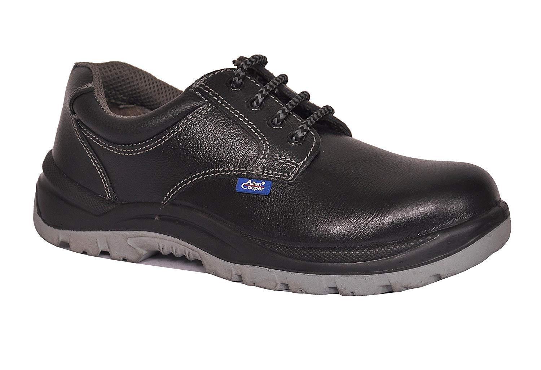 393294b5053 Allen Cooper AC 1102 Men's Safety Shoe, ISI Marked for IS:15298, 200J Steel  Toe Cap, Size - 7 UK, Black
