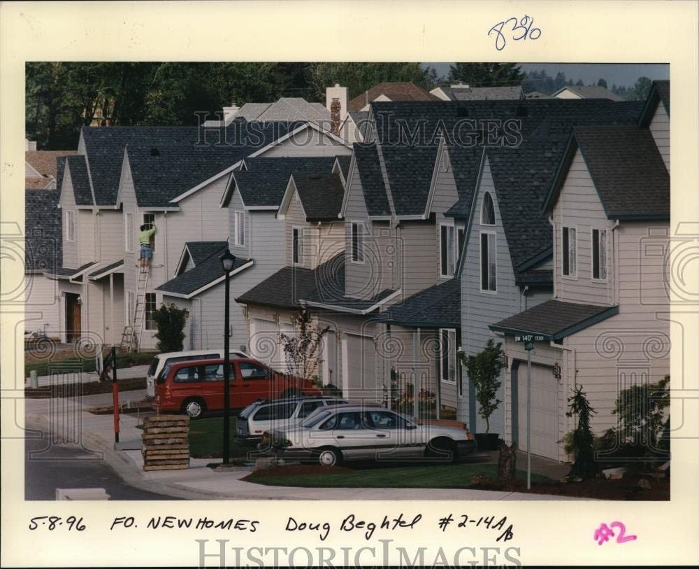 Vintage Photos 1996 Press Photo Real Estate Development in Castle Hill New Homes ora39526