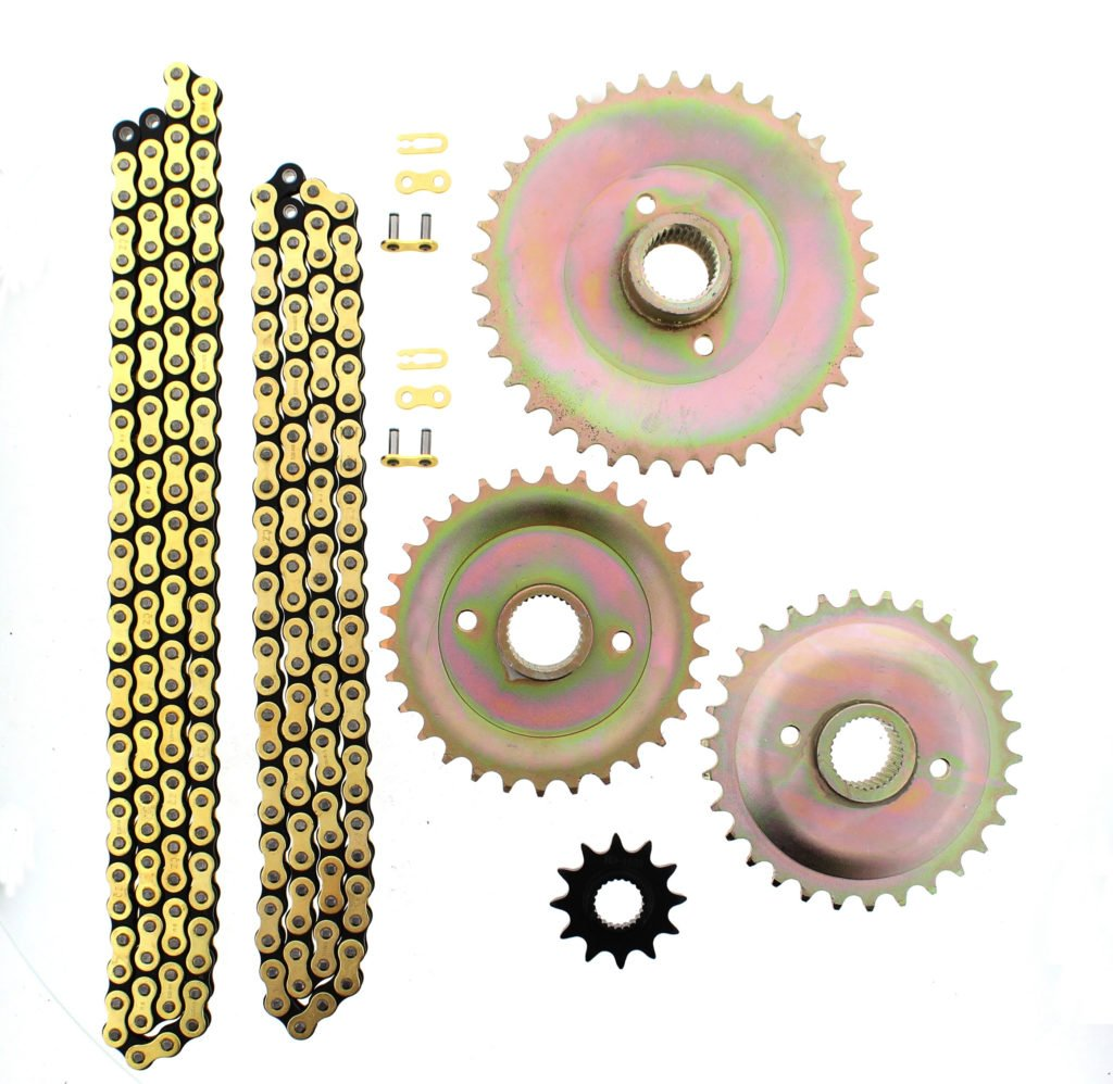 JT Sprockets JTSK3001 525X1R Chain and 16 Front//45 Rear Tooth Sprocket Kit