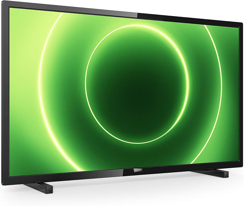 Televisor Philips 32PHS6605/12 de 32 Pulgadas (LED TV, Pixel Plus HD, Saphi Smart TV, Altavoces de Rango Completo, 3 x HDMI, 2 x USB, Ideal para Gaming), Color Negro Brillante (Modelo de