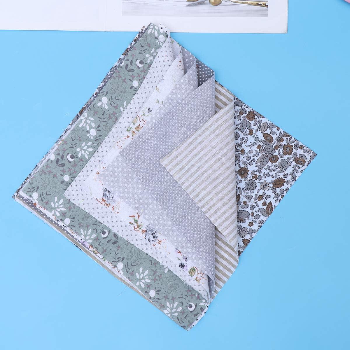 SUPVOX Cotton Fabric Bundles Precut Squares Quilting Fabric Quarter Fabric Bundle Patterns 7PCS