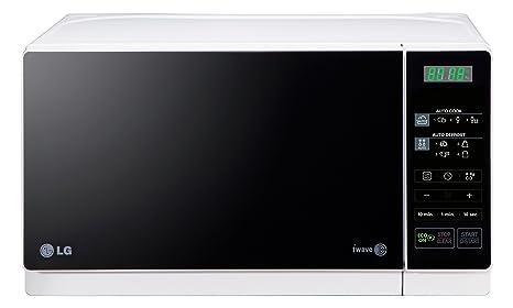 LG MS2043HW - Microondas (45,5 cm, 32 cm, 25,2 cm) Negro ...
