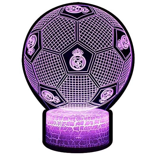 3D Lámpara de Escritorio NHSUNRAY 7 colores LED Touch lámpara de mesa con control remoto para niños cumpleaños regalo de San Valentín de Navidad (Real ...