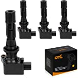 QYL Pack of 4Pcs Ignition Coils Replacement for Mazda 3 6 2006-2013 CX-7 2007-2012 Mx-5 Miata 2006-2015#UF540 L3G218100A…