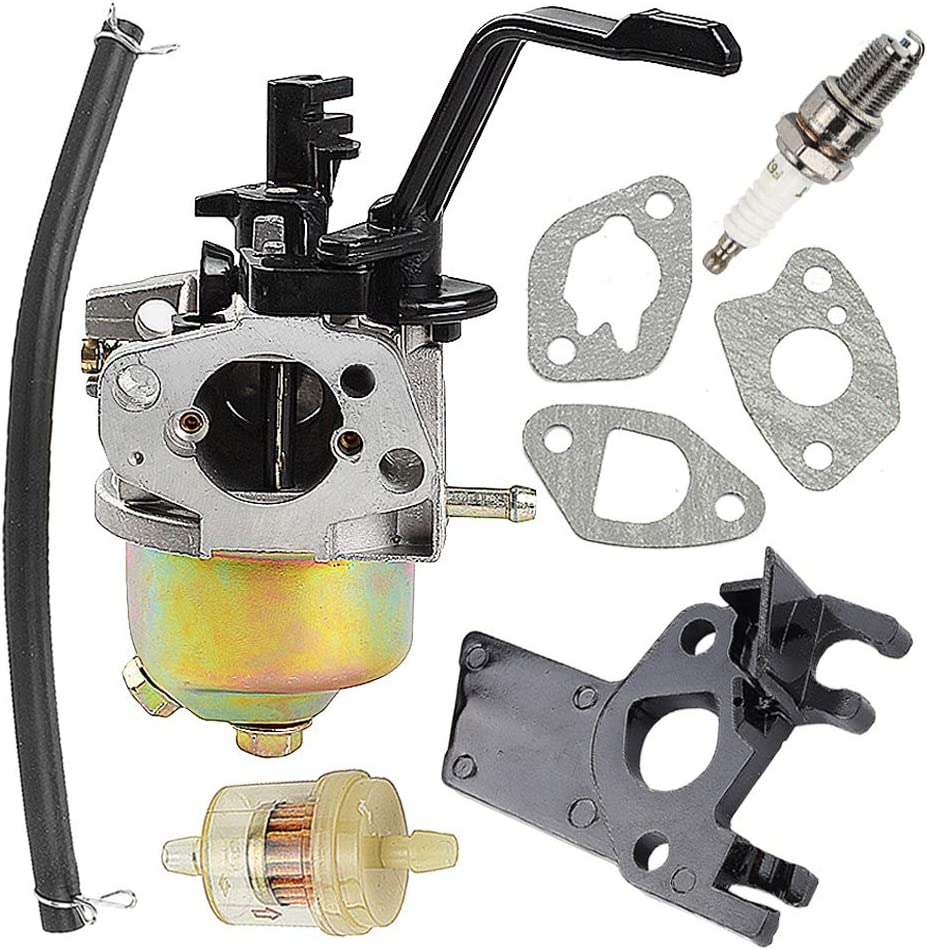 Harbot Carburetor for Champion Power Equipment 3500 4000 Watts Gas Generator with Gasket Fuel Filter Line
