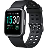 Arbily Smart Watch for Android, Smartwatch with Heart Rate Monitor Waterproof Swimming Fitness Tracker, Step Counter…