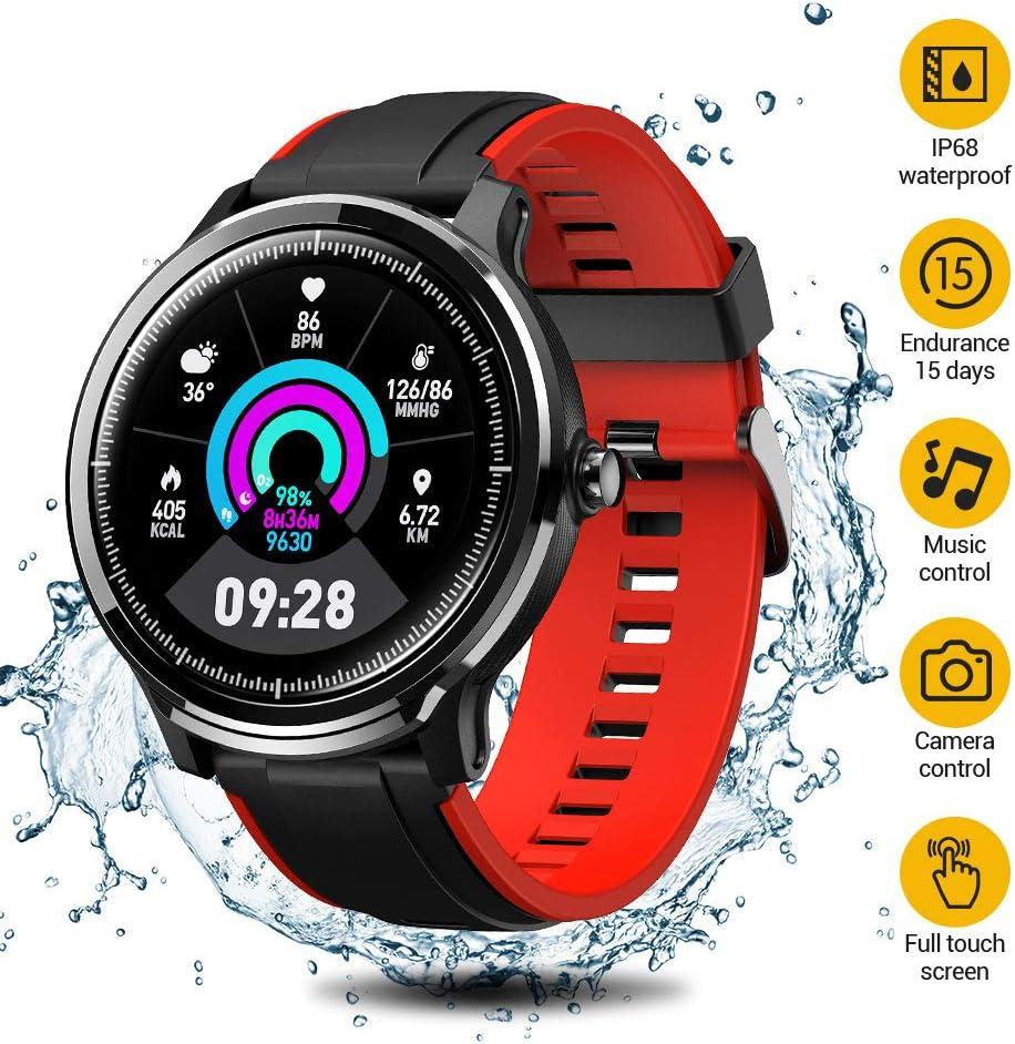 SmartWatch,Reloj Inteligente Impermeable IP68,Bluetooth Relojes Deportivos Pantalla táctil completa para monitor deportivo para dormir,Pulsera Actividad Inteligente Hombre Mujer para iOS y Android
