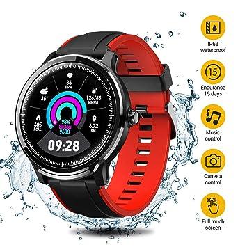 SmartWatch,Reloj Inteligente Impermeable IP68,Bluetooth Relojes Deportivos Pantalla táctil completa para monitor deportivo para dormir,Pulsera ...