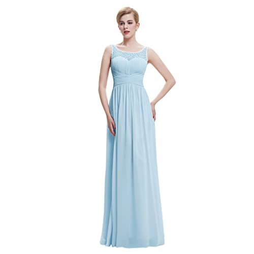Belle Long Prom Dress Elegant Maxi Length Evening Party Wedding Party Full Dress ST61