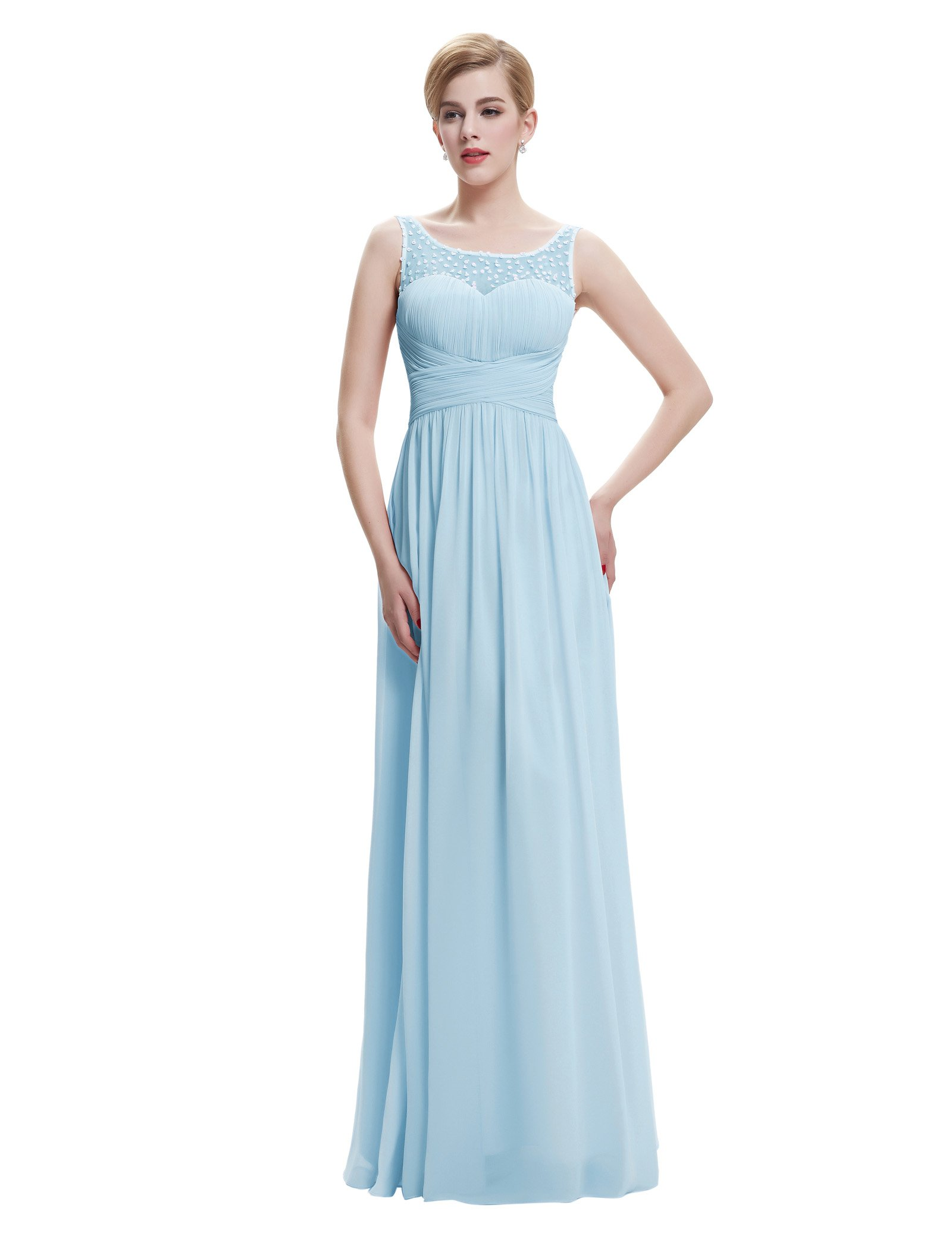 Long Blue Dress: Amazon.co.uk
