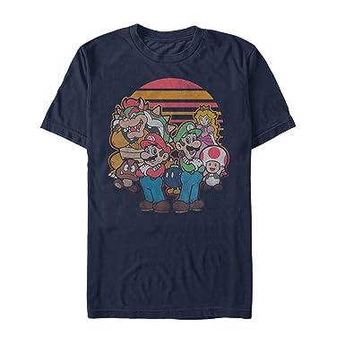 16f45ba41 Fifth Sun Men's Nintendo Super Mario and Friends T-Shirt (XXXL, Navy)
