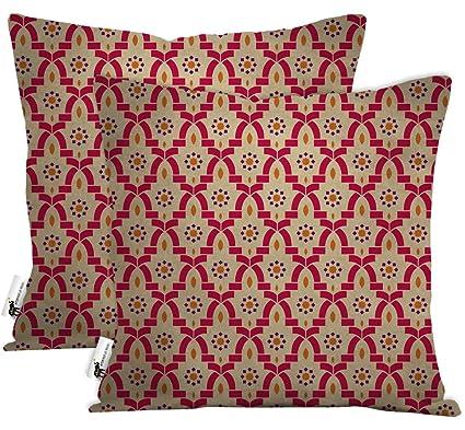 Outdoor Pillows Set Of 2.Amazon Com Ubu Republic Boho Outdoor Throw Pillows Set