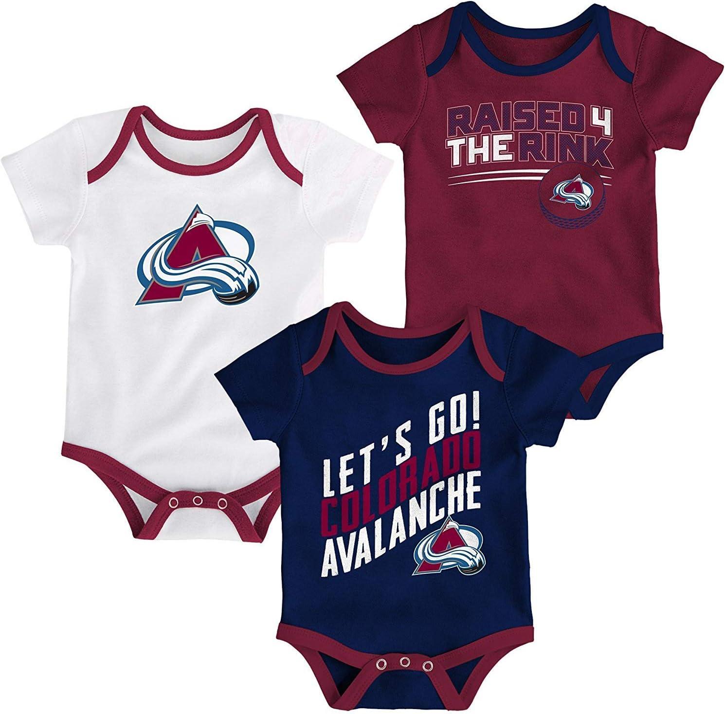 Outerstuff NHL Newborn Infants Power Play 3 Piece Creeper Bodysuit Set