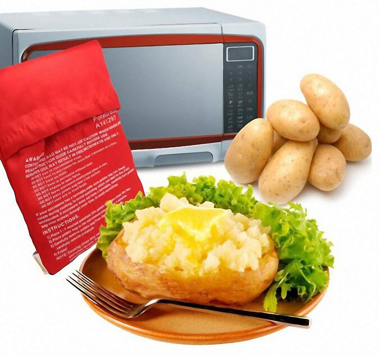Always Fresh Kitchen Cook Tatoes Bolsa para Patatas En Microondas 2 x 22 x 17 cm Rojo