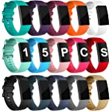 Velavior 15 Colors Bands for Fitbit Charge 3/ Fitbit Charge 4/ Charge3 SE, Waterproof Replacement Wristbands for Women…