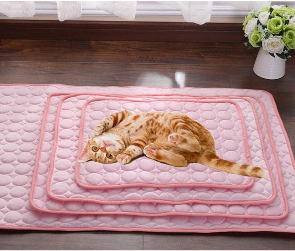 Rosa 70 x 56 cm La esterilla de enfriamiento para perros la almohadilla de enfriamiento para perros y gatos disipa el calor lejos de su mascota mantiene la mascota fresca transpirable no t/óxico