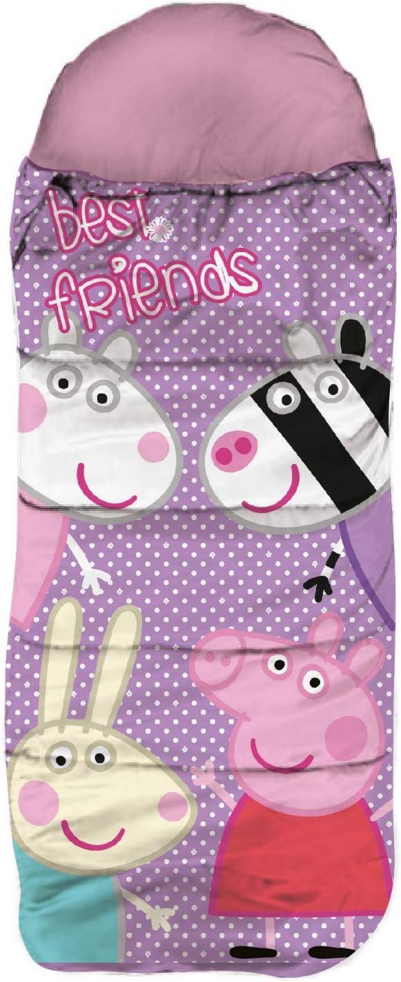 SkyBrands Peppa Pig - Saco de dormir infantil (70 x 140 cm, con funda, práctico certificado ÖKO TEX)
