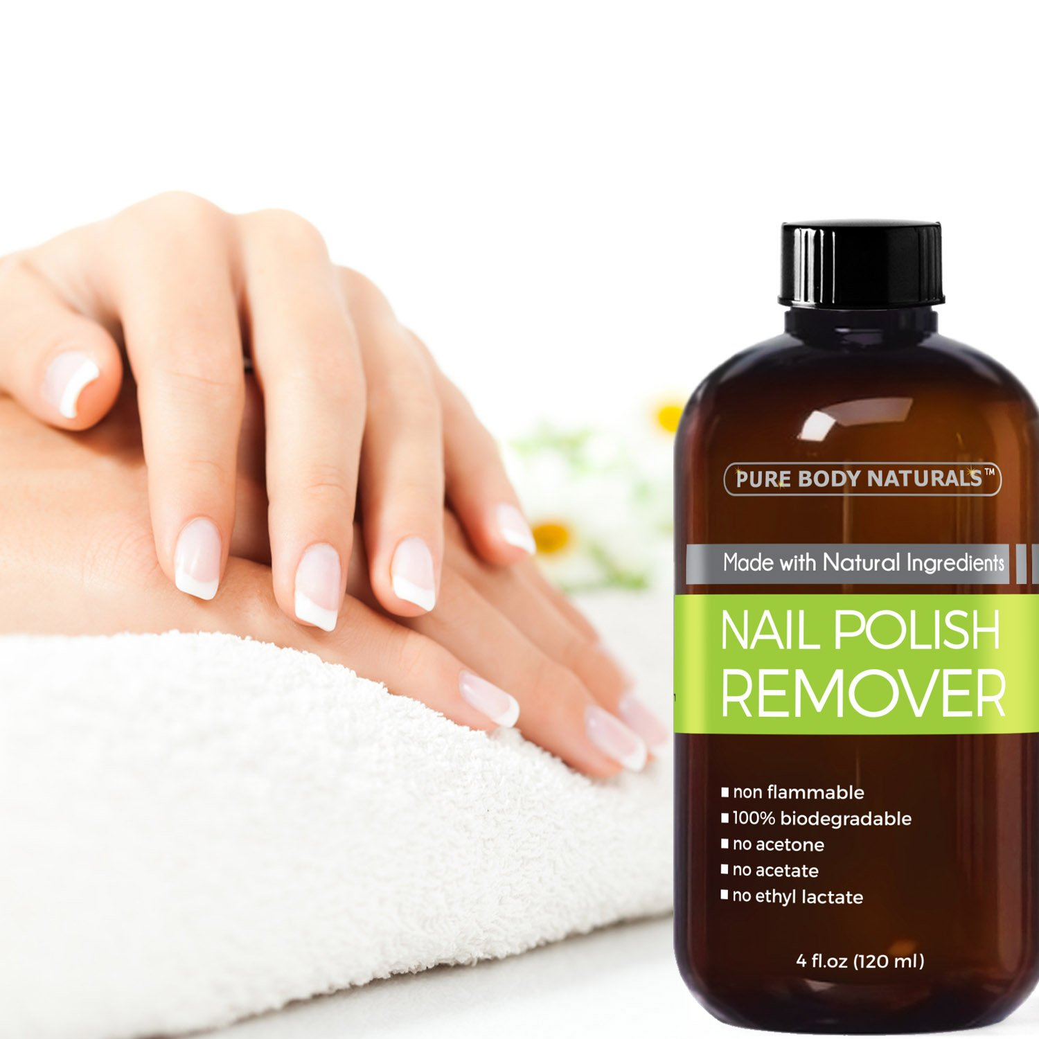 Amazon.com : Pure Body Naturals Non-Toxic, Acetone-Free Nail Polish ...