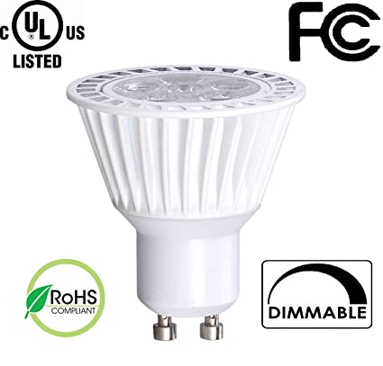Bioluz LED 6.5W Dimmable GU10 LED 120v Bulb 50W Halogen Bulbs Replacement UL  sc 1 st  Amazon.com & Bioluz LED 6.5W Dimmable GU10 LED 120v Bulb 50W Halogen Bulbs ...