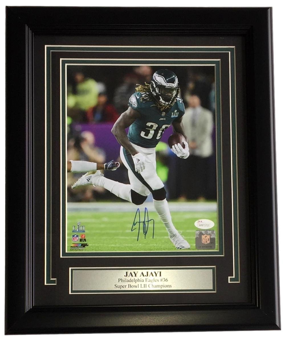03df5a25c Jay Ajayi Signed & Framed 8x10 Philadelphia Eagles Super Bowl 52 LII Photo  JSA ITP at Amazon's Sports Collectibles Store