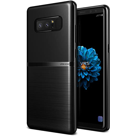 premium selection 31bab 43438 VRS DESIGN Galaxy Note 8 Case, Slim Full Body Protective Armor [Black]  Ultra Thin Fit Waved Back for Samsung Galaxy Note 8 [Single Fit]