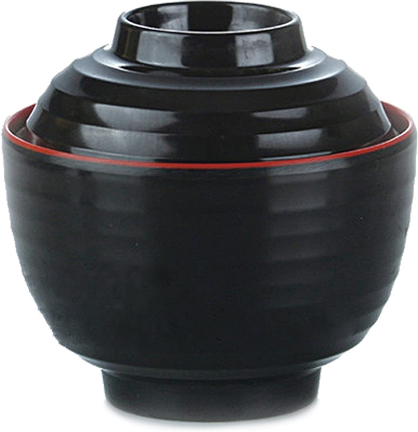 Japanese Melamine ?????? Miso Soup Rice Bowls With Lid (B11894) ~ We Pay Your Sales Tax