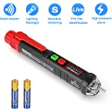 Voltage Tester, Dual Non Contact AC Voltage Detector for Range 12V-1000V/48V-1000V, Circuit Testers Auto Power-Off with…