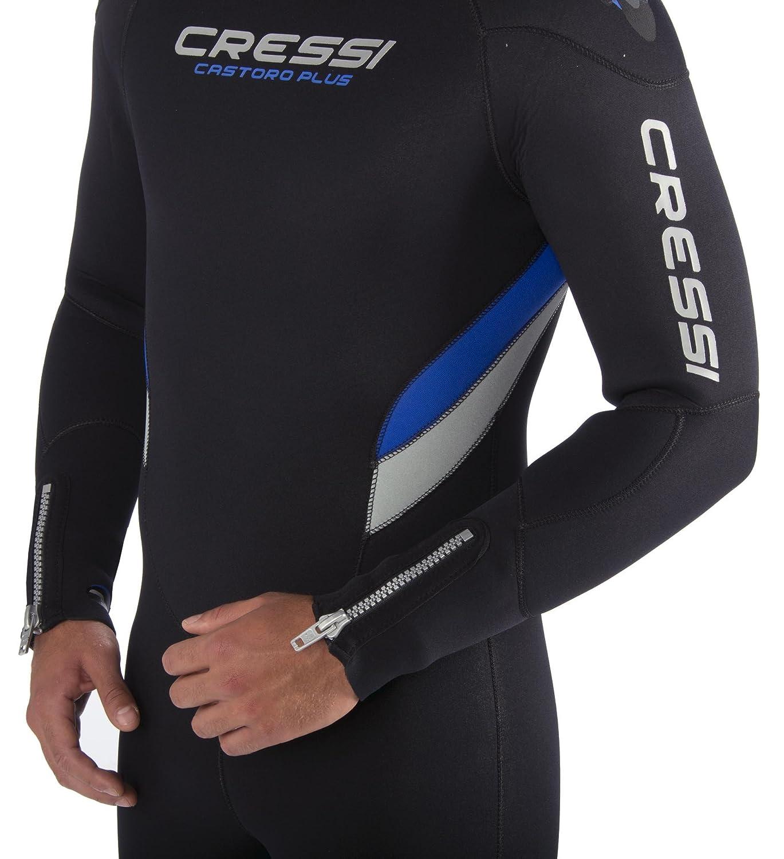 Cressi Castoro Plus Man - Traje de Buceo, Color Negro/Azul, Talla ...